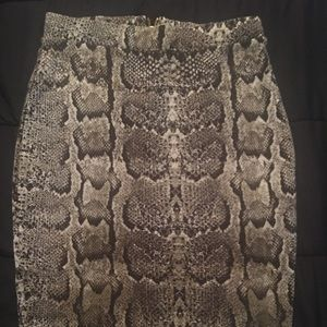 H & M animal print skirt
